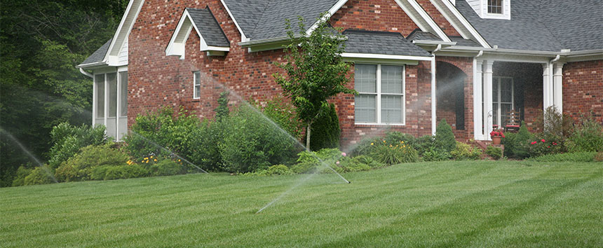 Residential House with Irrigation System